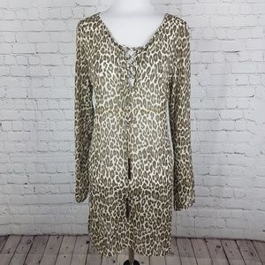 New! Tommy Bahama Sheer Leopard Beach Cover up